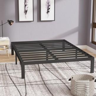 Marco de cama de plataforma de metal negro Branson
