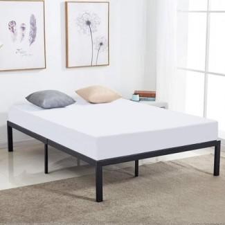 Marco de cama Queen Size de 14 pulgadas, listón de acero resistente / metal