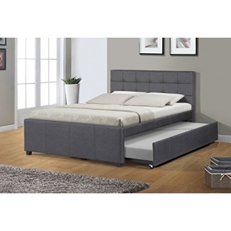 Muebles de la mejor calidad Cama completa K27 con nido, gris oscuro