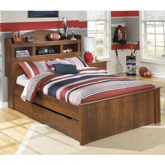 Cama de estantería completa con unidad de almacenamiento debajo de la cama de nido por