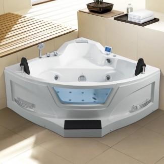 "Ariel bañera de hidromasaje de esquina de 61 ""x 61"""