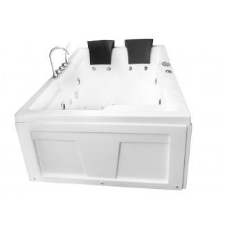 """Calentador de hidroterapia para 2 personas y Bluetooth Bañera de hidromasaje de esquina de 71 """"x 48"""""""