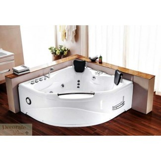 ESQUINA DE BAÑERA PARA 2 PERSONAS Whirlpool Jetted Therapy Tub SPA ...