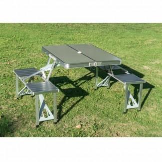 Mesa de picnic plegable de resina / plástico Corringham