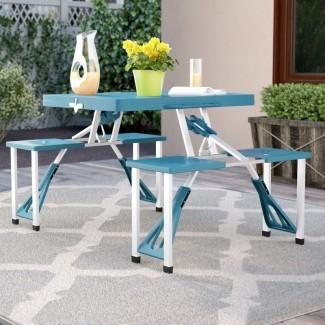 Mesa de picnic plegable de plástico / resina Abril