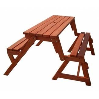 Ideas Combo de banco plegable y mesa de picnic plegables ...