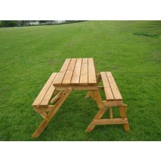 Combo de banco plegable y mesa de picnic   Shelby Knox
