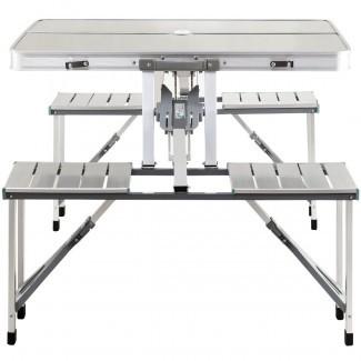 Costway: Costway Mesa de picnic plegable portátil de aluminio ...
