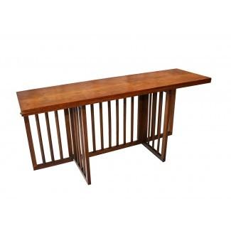 Mesa de comedor Mid Century Modern con consola plegable