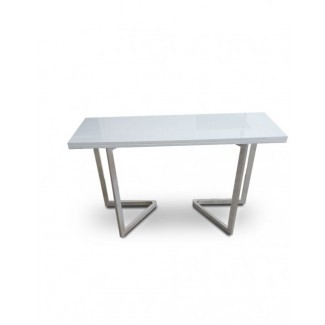 INKA - Mesa consola extensible a la mesa de comedor (blanco ...