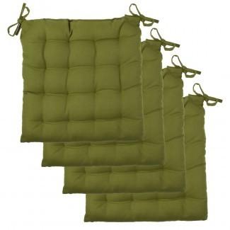Juego de 4 almohadillas de silla Asiento acolchado de lona de algodón suave con mechones [19659018] Juego de 4 almohadillas para silla Asiento acolchado de lona de algodón suave con mechones ... </div> </p></div> <div class=