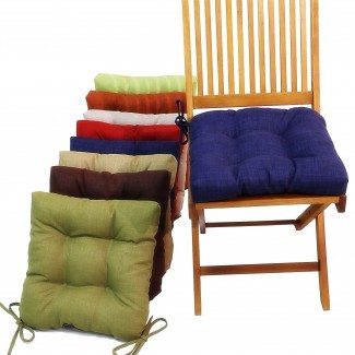 Cojines para silla de cocina con corbatas | HomesFeed