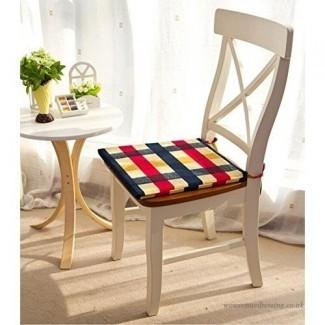 Almohadillas para silla de comedor con corbatas Cojín de silla de comedor con corbatas