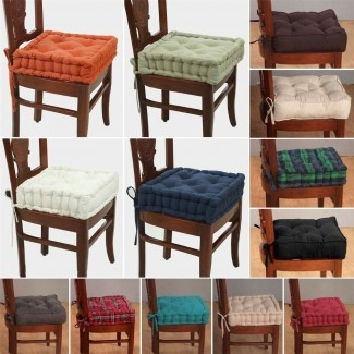 Almohadillas para silla de comedor con lazos Silla de comedor Cushi on With Ties