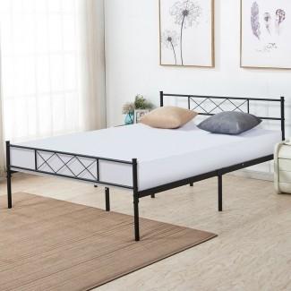 Marco de cama con plataforma de metal Ledford