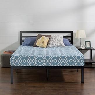 Zinus Quick Lock Estructura de cama de plataforma de metal de 14 pulgadas con cabecera / Base de colchón / Sin somier