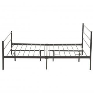Cabeceras de plataforma con estructura de cama doble, tamaño Queen, doble metal 6