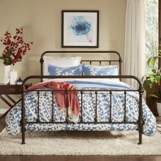 HomeSullivan Calabria Estructura de cama tamaño Queen, marrón antiguo ...