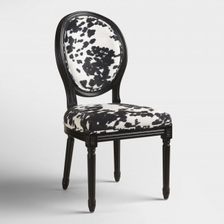 Domino Black Frame Paige Round Back Dining Chairs Set de