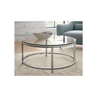 50 Ideas de Circular Glass Mesas de café | Mesa de centro