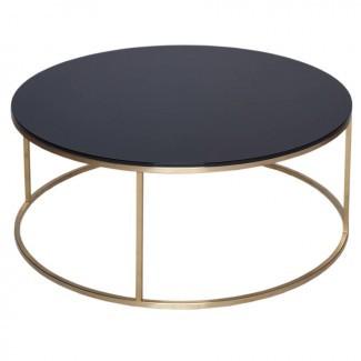 mesa de centro circular de vidrio de gillmorespace ...