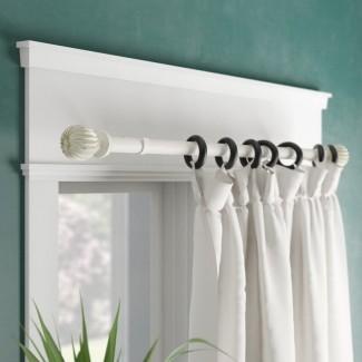 Juego de varillas y accesorios para cortinas de cortinas individuales ajustables Moriarty