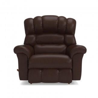 Sillón reclinable de cuero Crandell