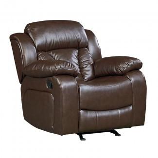 Sillón reclinable basculante de cuero sintético Delaney