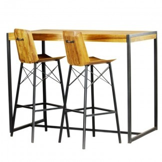 Port Augusta Juego de mesa de bar de 3 piezas