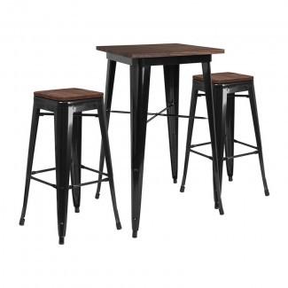 Conjunto de mesa de pub Mozingo Square de 3 piezas