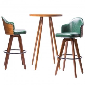 Juego de mesa de pub de 3 piezas giratorio Lindeman Bamboo