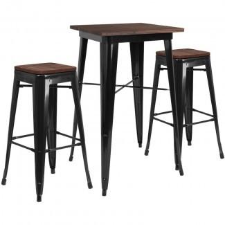 Juego de mesa de pub Primmer de 3 piezas