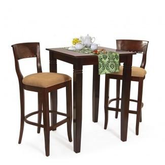Ealy Set de mesa de pub de 3 piezas