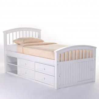 Dormitorio: ideas inspiradoras de diseño de almacenamiento de cama con el capitán ...