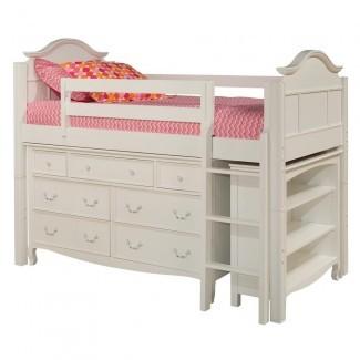 Prepac Monterey Cama de almacenaje para niños Twin Wood-WBT-4100-2K ...