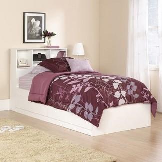 Mainstays Twin Storage Bed, Soft White -