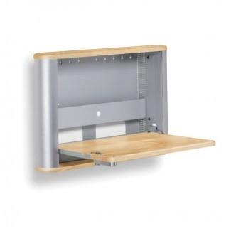 Ideas de escritorio plegable montado en la pared para vivir en espacios pequeños ...