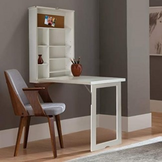 Gabinete de escritorio flotante montado en la pared multifunción con estantes de almacenamiento Escritorios de computadora, escritorio plegable, escritorio