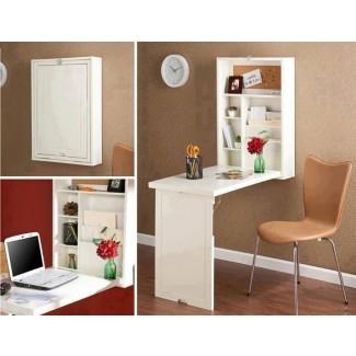 Ideas de escritorio plegable de pared para vivir en espacios pequeños ...