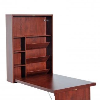 Mesa de escritura de montaje en pared convertible escritorio de la computadora plegable ...