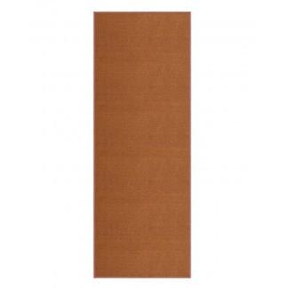 Barksdale - Alfombra antideslizante de goma, marrón, con respaldo de área