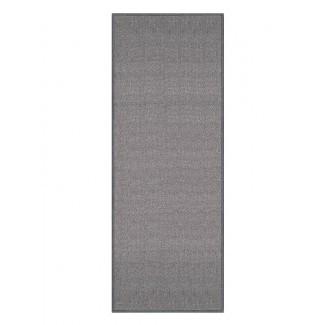 Alfombra de área gris con respaldo de goma antideslizante Barnhart