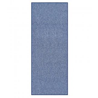 Alfombra de área azul con respaldo de goma antideslizante Barrow