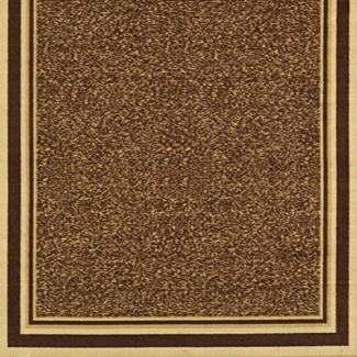 Colección Ottohome de Ottomanson Colección de área de respaldo de goma antideslizante de diseño contemporáneo Alfombra-OTH2318-8X10-P