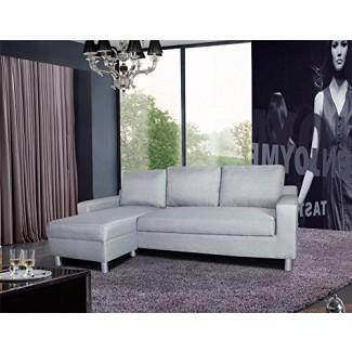 Mobiliario Orgulloso de los EE. UU. Sofá cama Kachy convertible en cama convertible y chaise-Izquierda, gris