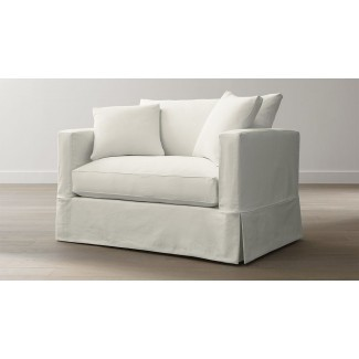 Sofá cama doble Willow - Nieve | Crate and Barrel