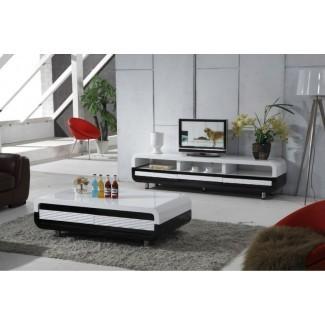 Sala de estar: increíble mesa de café y soporte de televisión a juego Tv