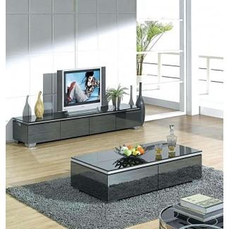 Mesa de centro y soporte de TV a juego: la mesa de café