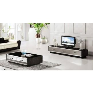 Sala de estar: increíble mesa de café y soporte de TV a juego ...
