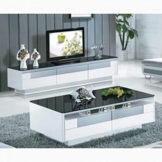Impresionante mesa de centro a juego y unidad de TV -